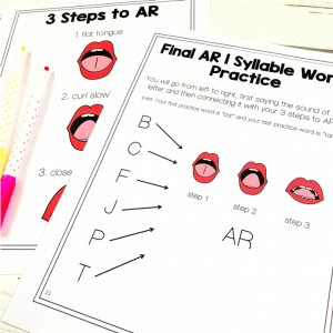3 steps to the r sound in speech therapy