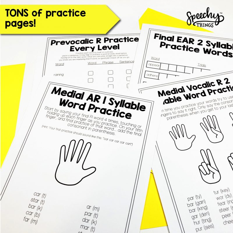 Collage of practice materials for Teaching R.