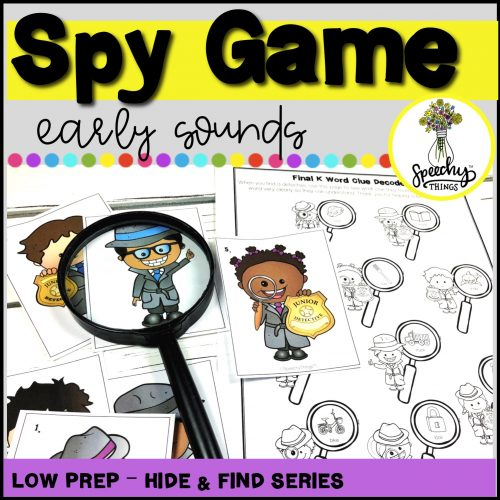 Image of Spy Game speech therapy activity.