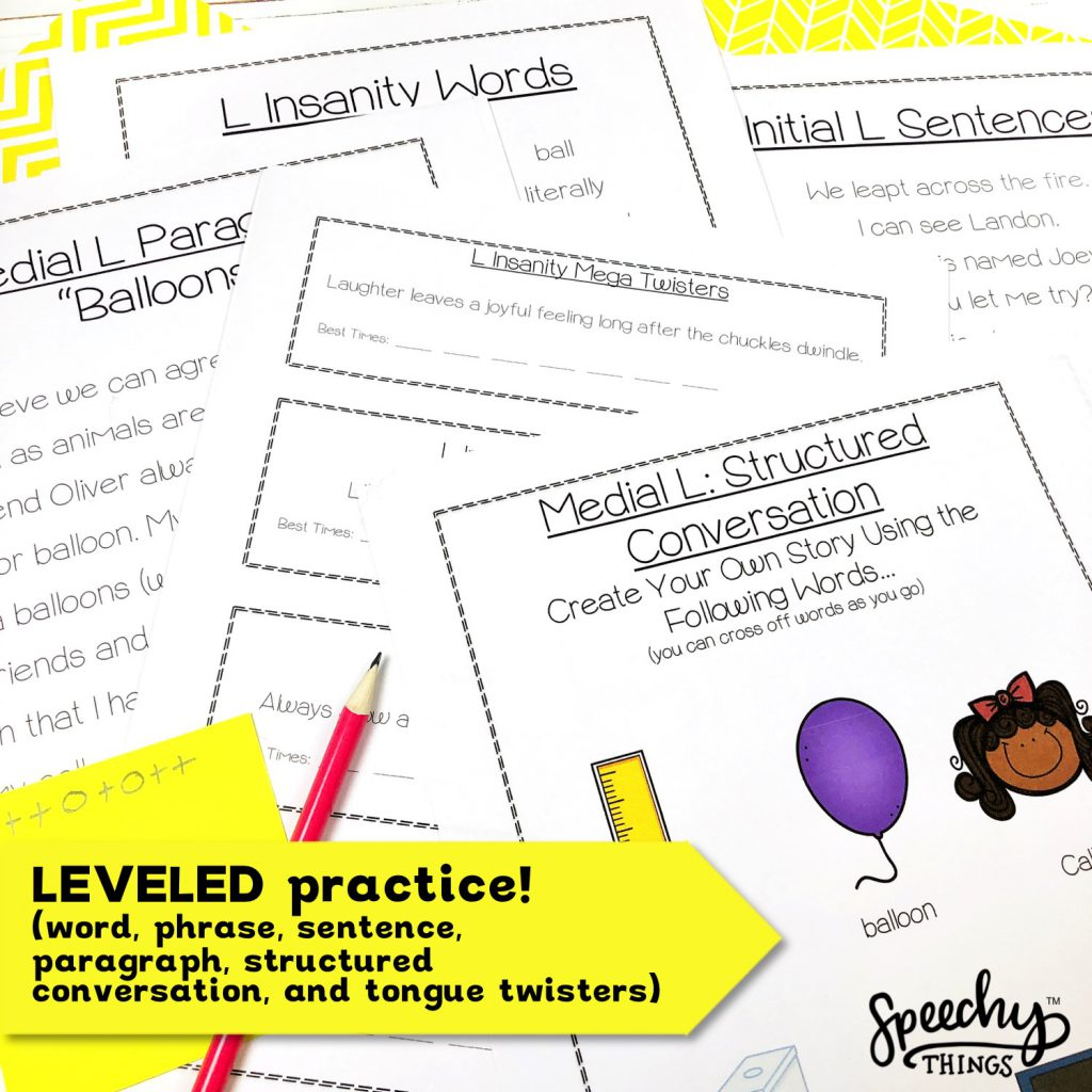 speech therapy l articulation tongue twisters activities