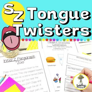 s z articulation tongue twisters for speech therapy