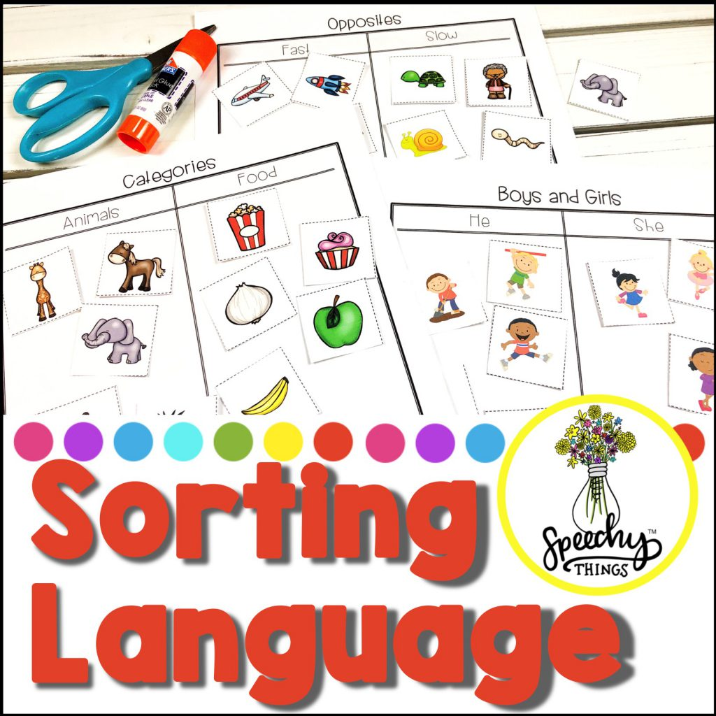 Image of speech therapy basic concepts language activities.