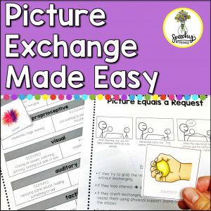 Image of picture exchange made easy, a speech therapy aac resource.