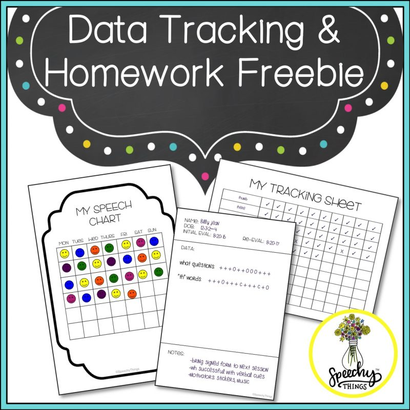 cover for speech therapy articulation data tracking
