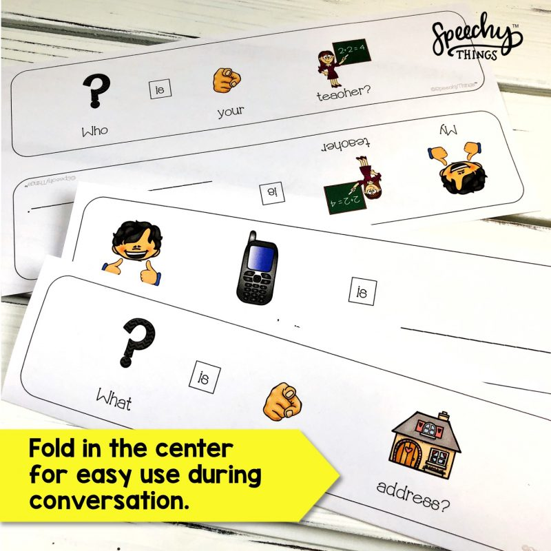 speech therapy special education adapted cards resources