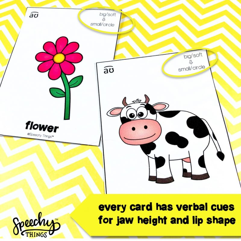 image of vowel diphthong speech therapy freebie