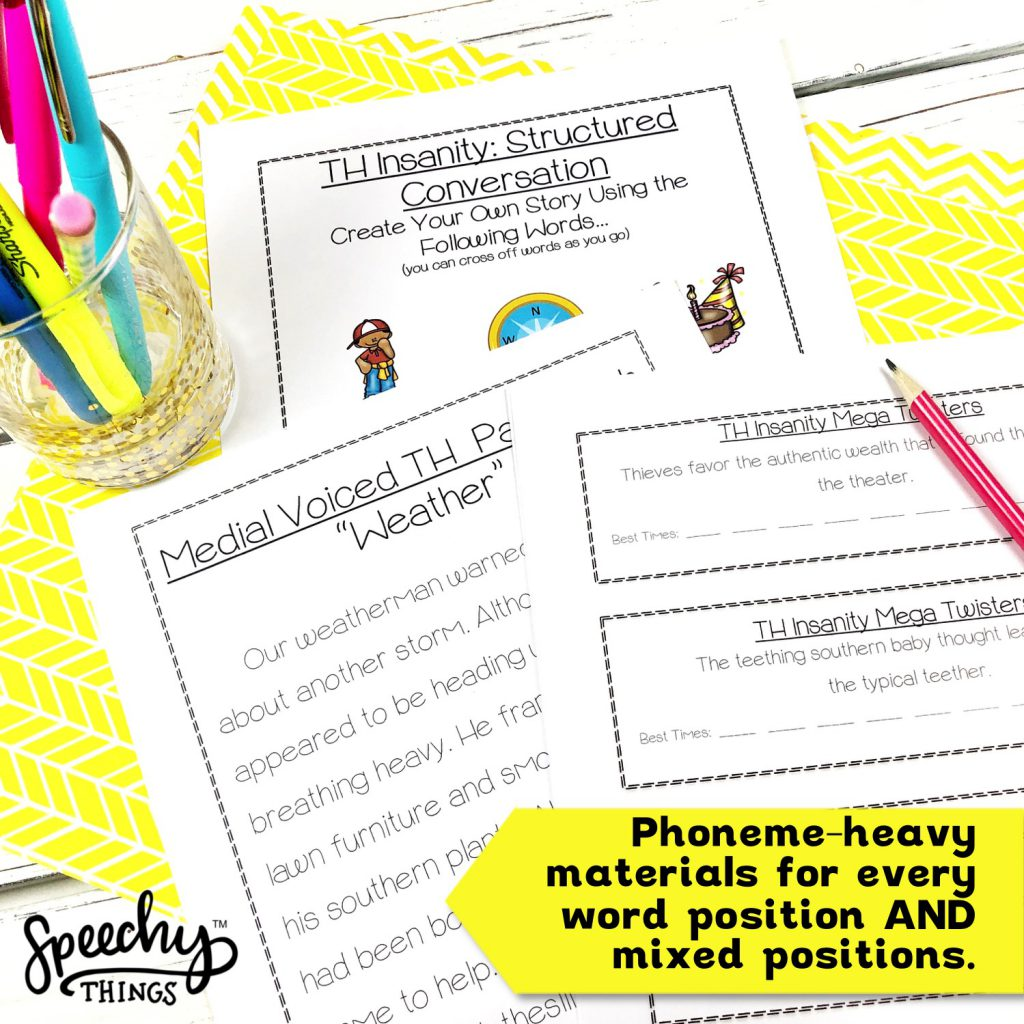 th articulation tongue twisters for speech therapy