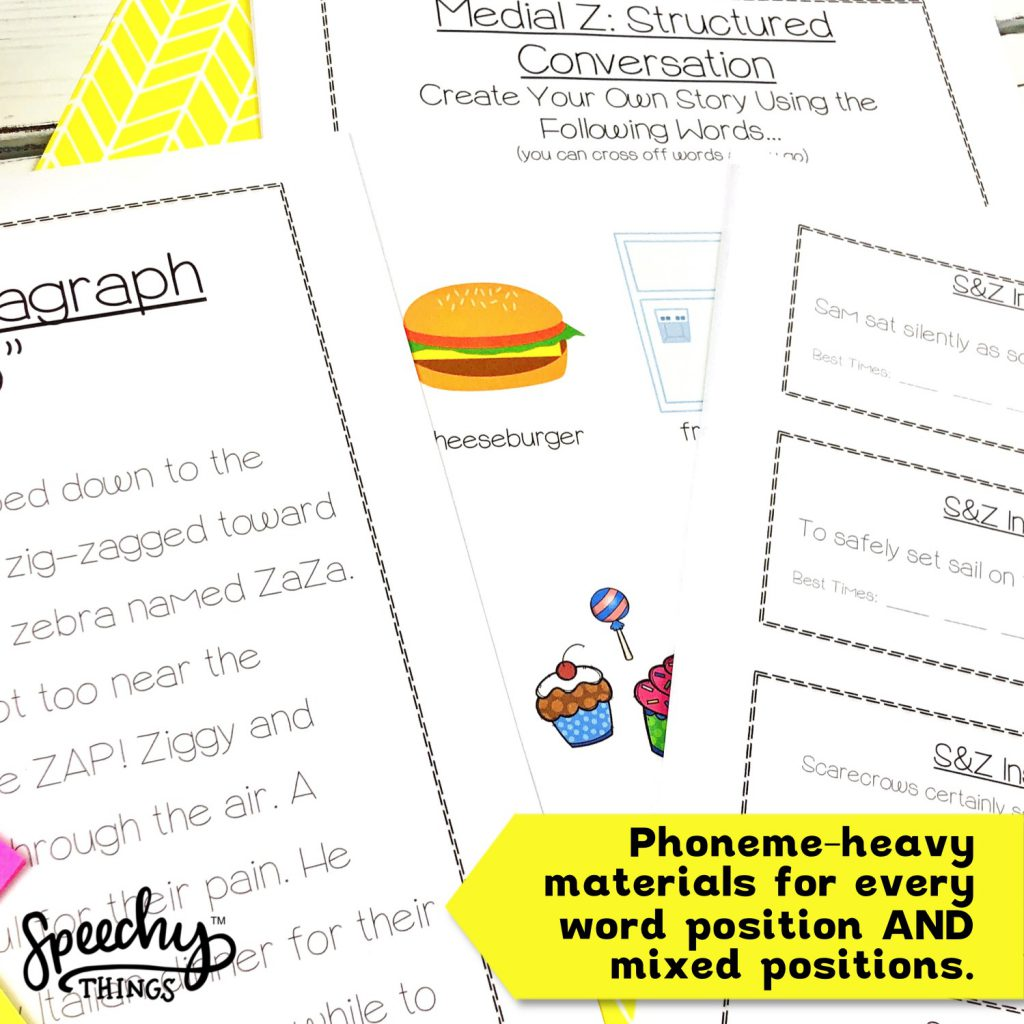tongue twisters articulation activities bundle for speech therapy