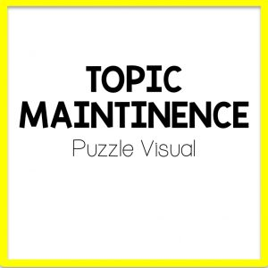 title for topic maintenance speech therapy visual