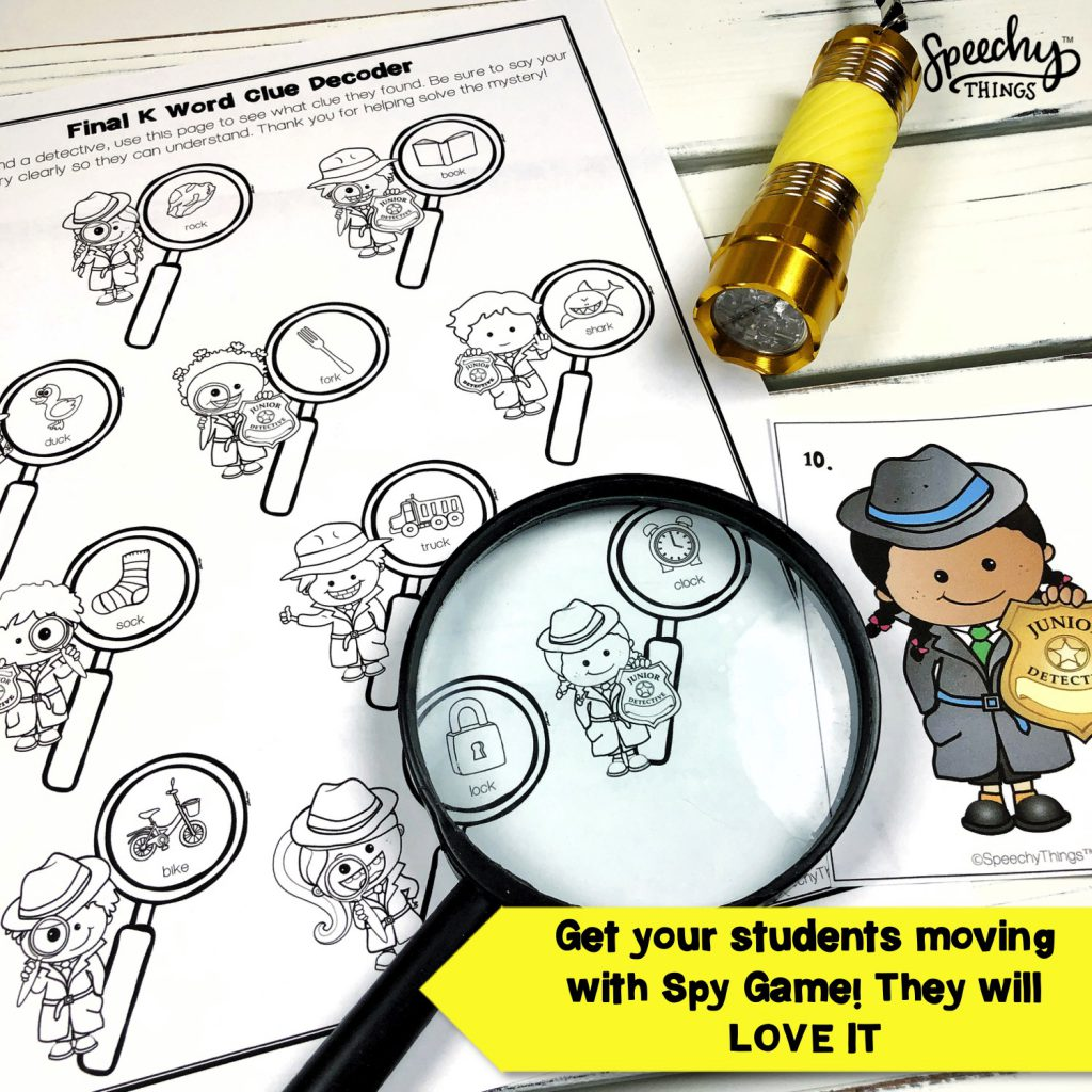 Image of Spy Game speech and language bundle for mixed groups in speech therapy