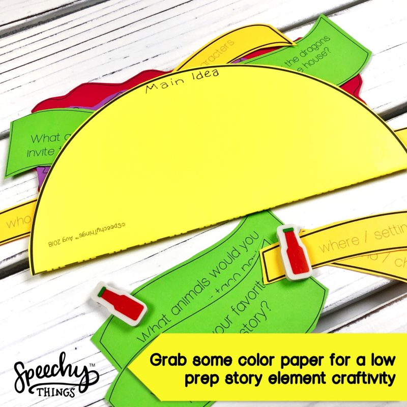 dragons love tacos book companion speech therapy