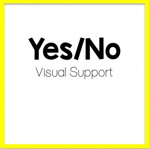 title for yes / no speech therapy visual