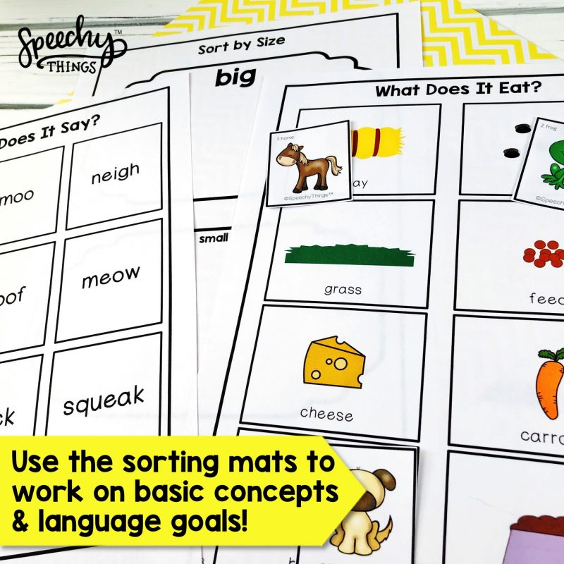 image of speech therapy old macdonald song language activity