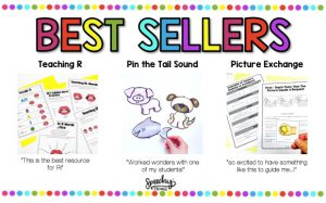 image of best selling speech therapy resources by speechy things