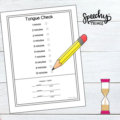 image of speech therapy frontal lisp articulation freebie