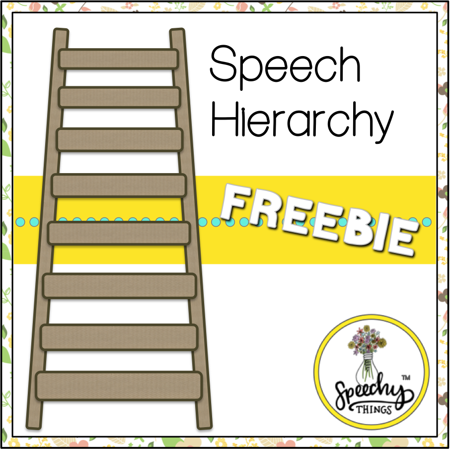 cover for speech therapy articulation hierarchy freebie