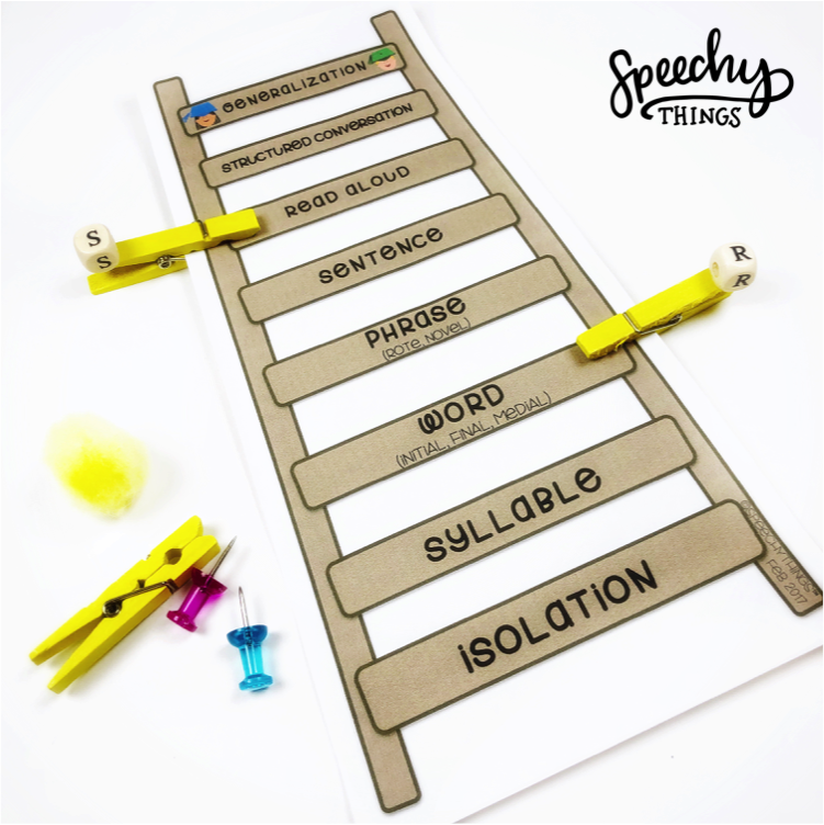 image of speech therapy articulation hierarchy freebie