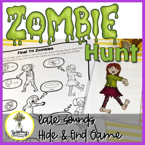 Zombie Hunt speech therapy game for late sounds articulation.