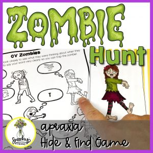 Zombie hunt speech therapy apraxia of speech game.