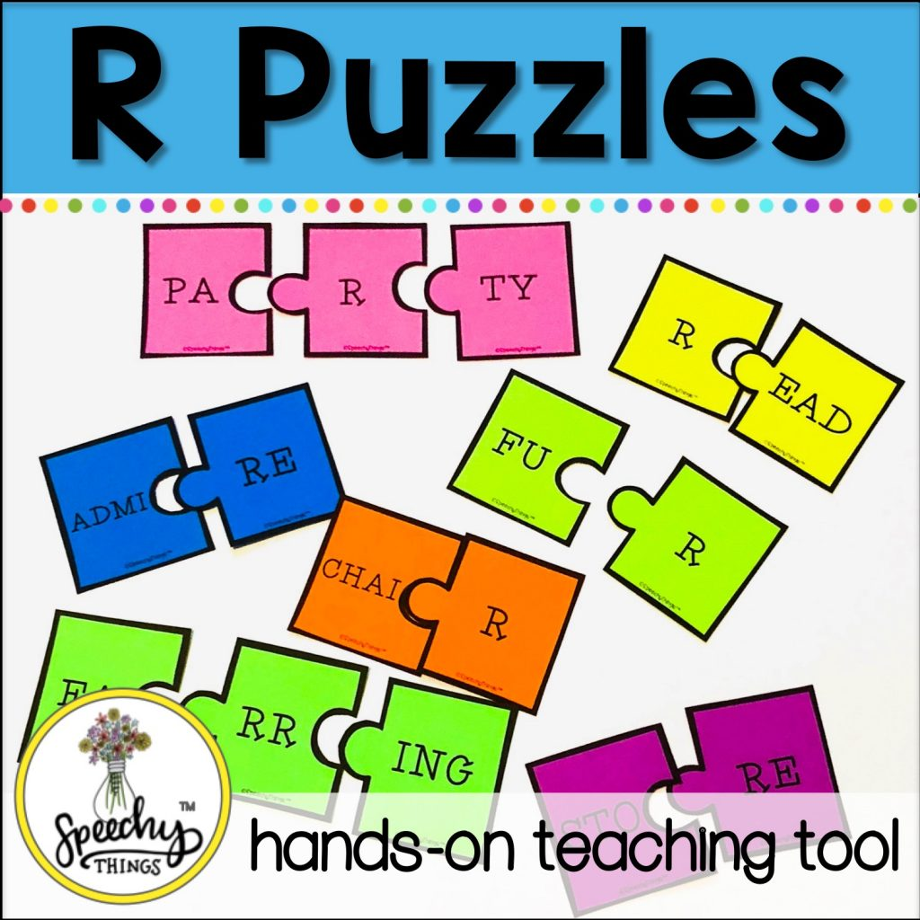 r puzzle activity for speech therapy