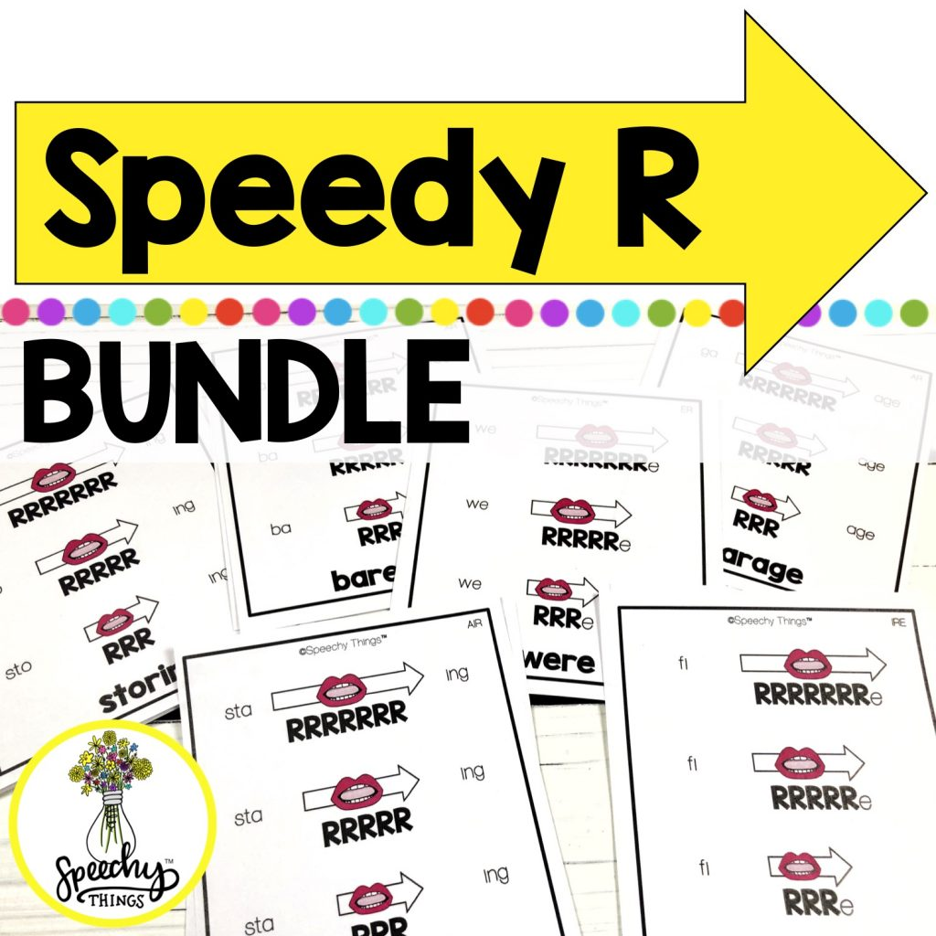 speedy r visual strategy cards for articulation therapy