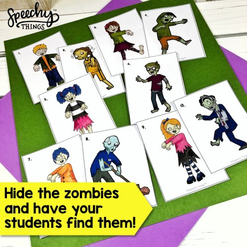 zombie hunt speech therapy game