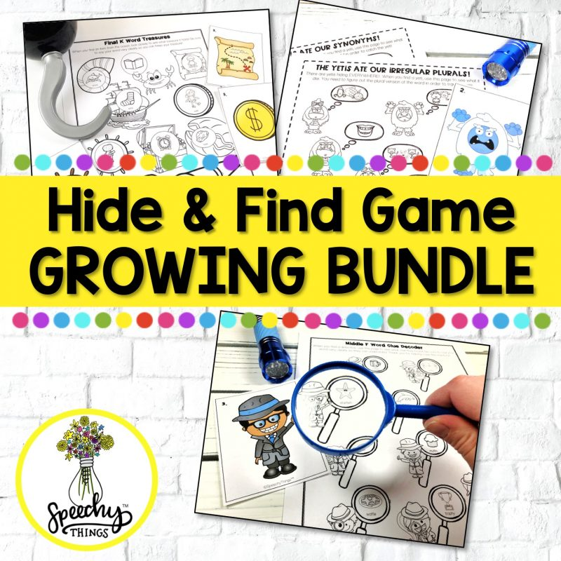 hide and find speech therapy activities