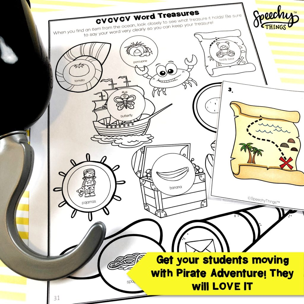 image of pirate speech therapy activities