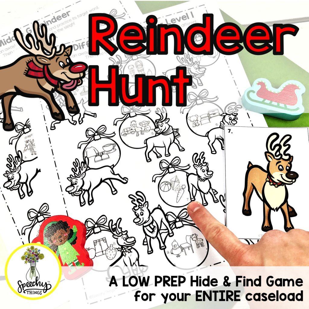 image of Reindeer Hunt speech therapy activities