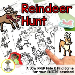 image of Reindeer Hunt speech therapy activities