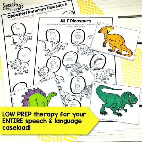 Dinosaur Hunt - speech therapy articulation and language activities for mixed groups