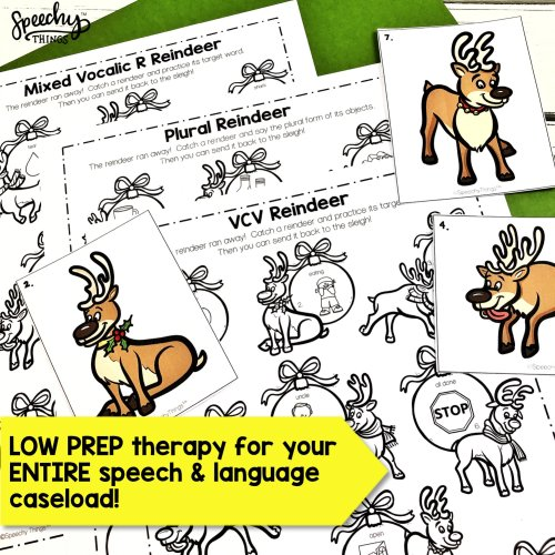image of Reindeer Hunt, speech therapy activities