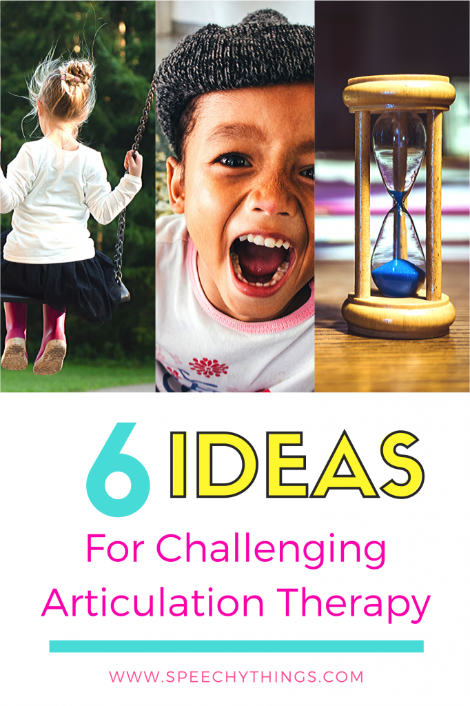 Some students seem to get stuck while working through the articulation hierarchy. Here are 6 ideas to keep speech therapy interesting and challenging as students work toward generalization and carryover.