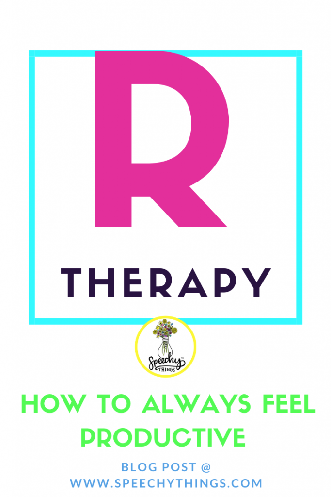 image for blog post about staying productive during r therapy even before eliciting the r sound