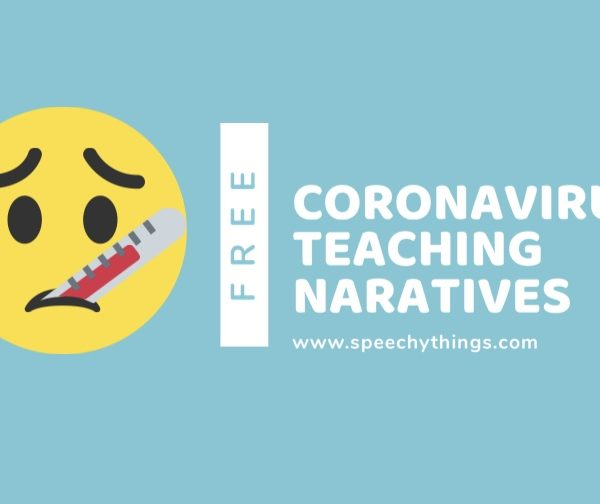speech therapy blog post for free social stories to explain coronavirus covid-19 to kids