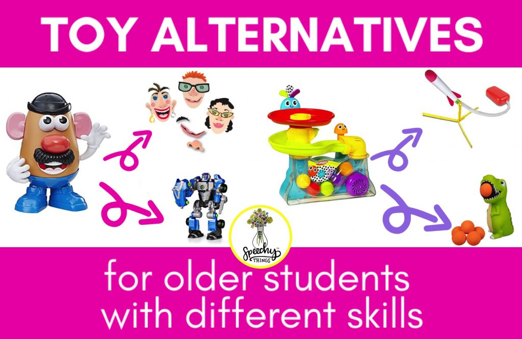 blog post image for alternative toys for older speech therapy students with disabilities