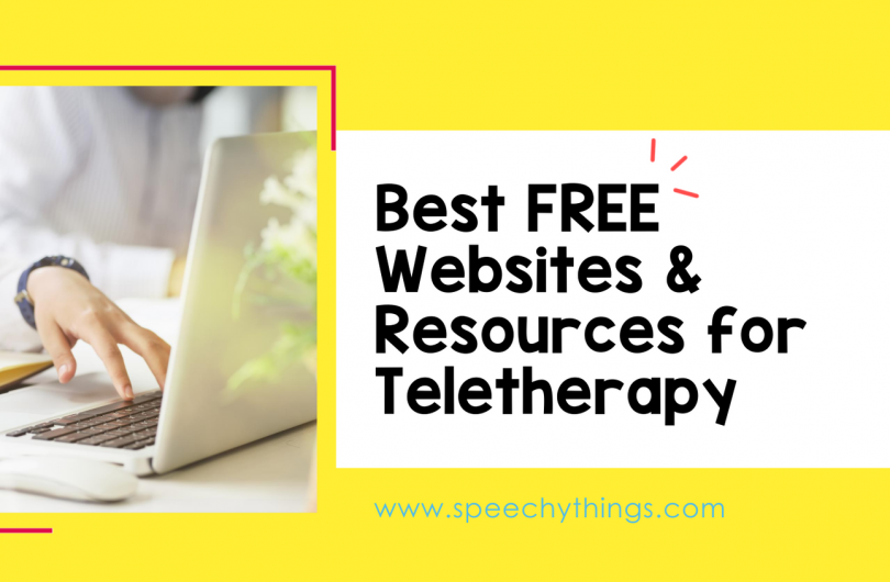 speech therapy blog post image for free teletherapy materials
